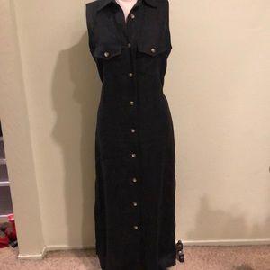 Harve Benard Black Linen Dress Size 8